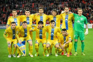 Bate Borisov's players pose before the UEFA Champions League Group H football match Athletic Club Bilbao vs FC BATE Borisov at the San Mames stadium in Bilbao on December 10, 2014., Image: 212914414, License: Rights-managed, Restrictions: , Model Release: no, Credit line: Profimedia, AFP
